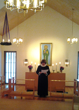 gudstjeneste i Timfors kirke med dansk præst Birgit Berggrensson